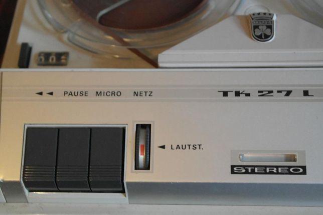 Gravador de fita vintage Grundig TK 27 L