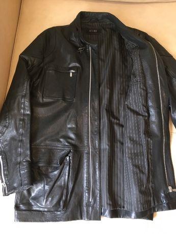 Куртка кожа черная Ottimo осень весна.