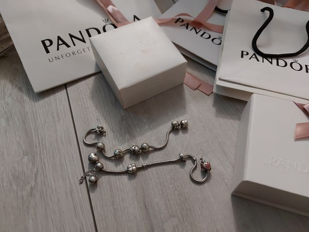 Okazja zestaw 2 bransoletek Pandora
