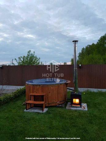 Купель, спа-купель на дровах, за литовською технологією