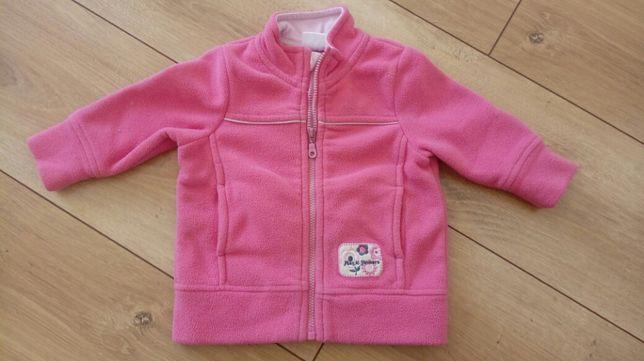 Bluzeczka polarowa na małą dziewczynkę - rozmiar 68cm - stan BDB