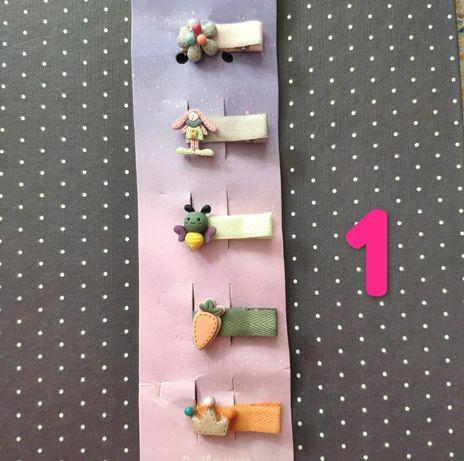 Spinki spinka zestaw 5 sztuk + 2 gumki