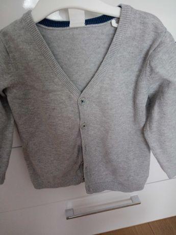 Rozpinany sweterek chłopięcy