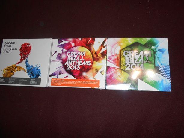 Três CDs triplos-Cream Club/Novos e selados-3 euros cada