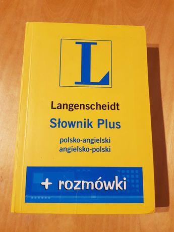 Słownik Plus rozmówki Langenscheidt polsko-angielski, angielsko-polski