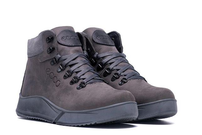 Мужские зимние ботинки (чоловічі черевики) из натуральной кожи.Ecco