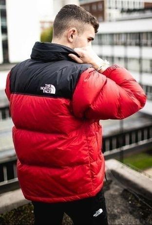Куртки пуховики The North Face цветные