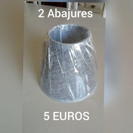 2 Abajures pequenos = 5 EUROS - em BEJA