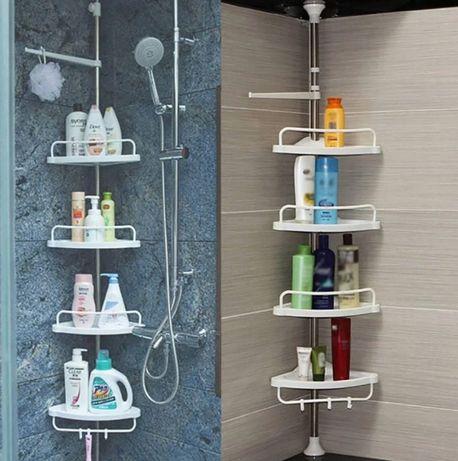 Угловая полка для ванной комнаты Multi Corner Shelf Стойка Стелаж
