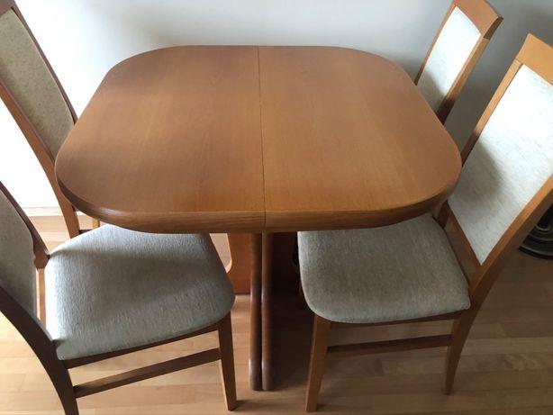 Stół rozkładany do 2,5 m. + 4 krzesła