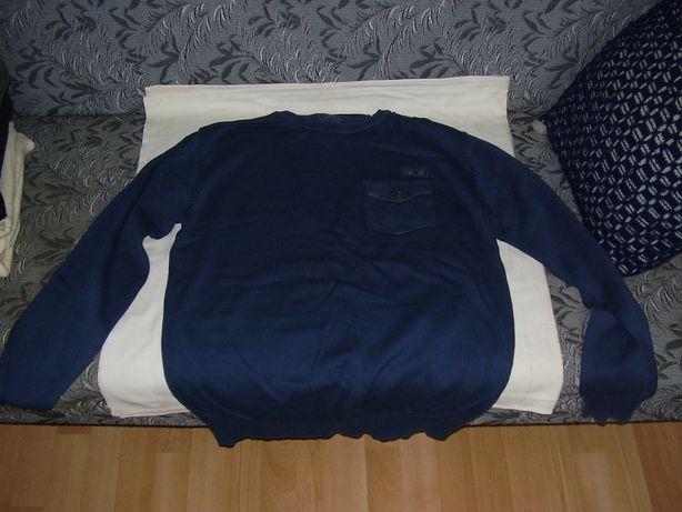 Bluza męska niebieska z kieszonką