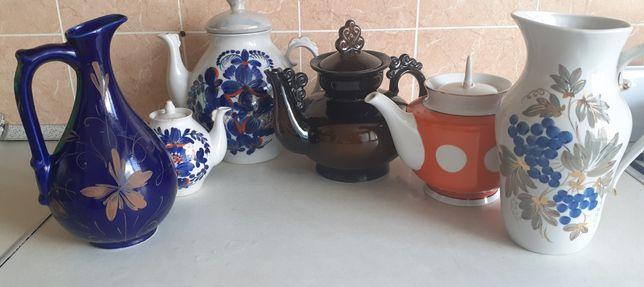 Посуда, кувшины, чайники