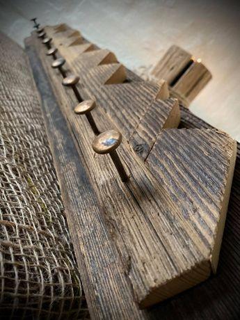 Wieszak z drewna Drewniany wieszak Wooden hanger 77x12 cm