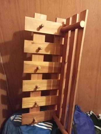 Rezerwacja ! Wieszak na ubrania z drewna  z górną  półką