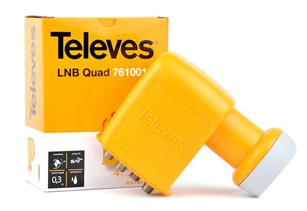 Konwerter quad Televes Montaż anten SAT i DVB-T