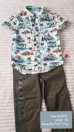 Nowe spodnie smyk 116+koszulka gratis