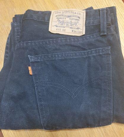 Męskie spodnie jeansy Lewis czarne