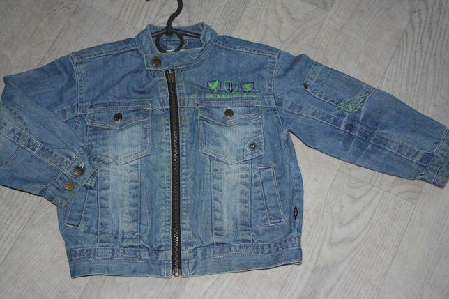 Стильный джинсовый ф.villa happ пиджак  мальчику р-104/110,идеальное