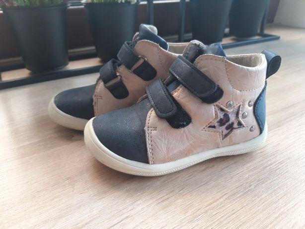 Trzewiki buciki dla dziewczynki skorzane wójcik