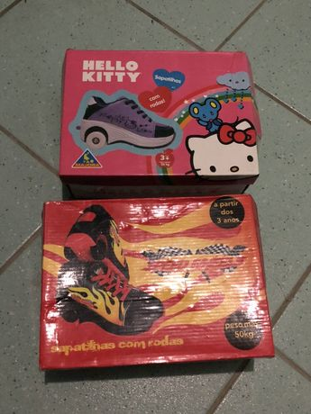 Ténis com Rodas Hello kitty 36 e Hot Wheels 32 NOVOS
