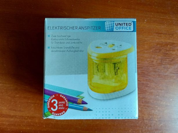 Точилка для карандашей UNITED OFFICE (Германия) на батарейках