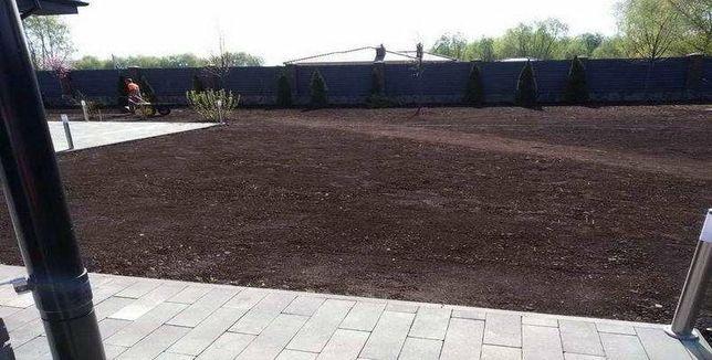 Подготовка участка под газон. Выравнивание земли. Недорогие цены