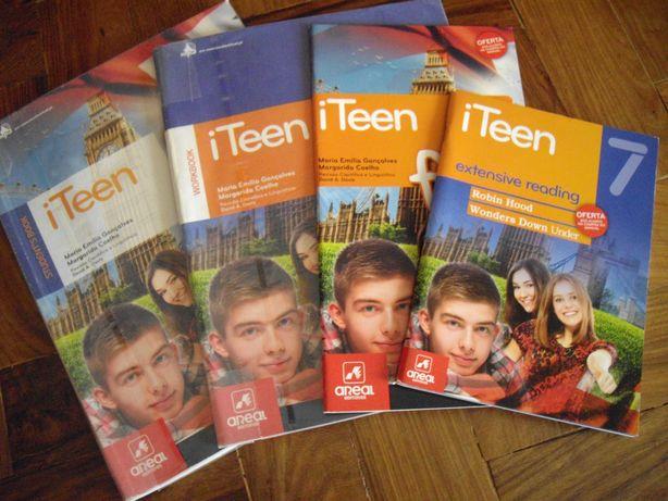 """i Teen 7"" - Manual e fichas de inglês - 7º ano"