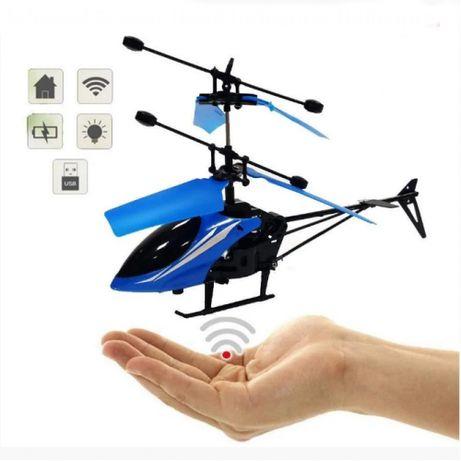 Новий літаючий вертоліт Induction Aircraft на пульті колір синій