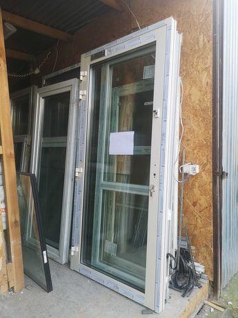 Nowe drzwi aluminiowe 111 cm szerokie x 231 cm wysokie