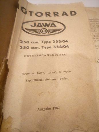 Instrukcja obsługi Jawa 250 350