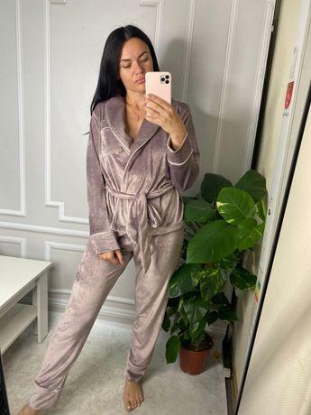 Женская пижама плюш велюр
