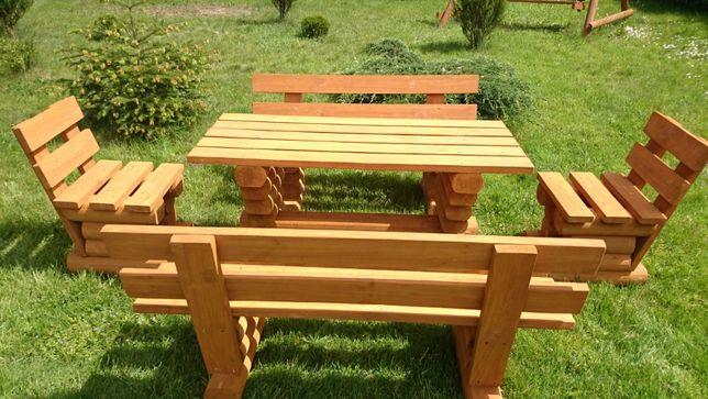 Drewniane masywne meble ogrodowe. Komplet ogrodowy. Transport gratis!!