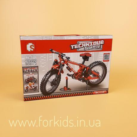 Детский конструктор Велосипед (703302) Sembo Block, 306 деталей
