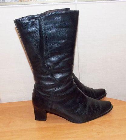 Зимние кожаные сапоги для девушки, размер 38