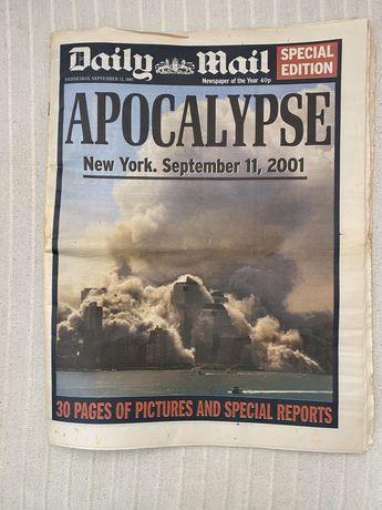 Jornal diario ingles do 11/Setembro 2001