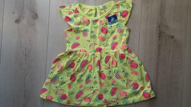 Sukienka nowa na lato rozm 86