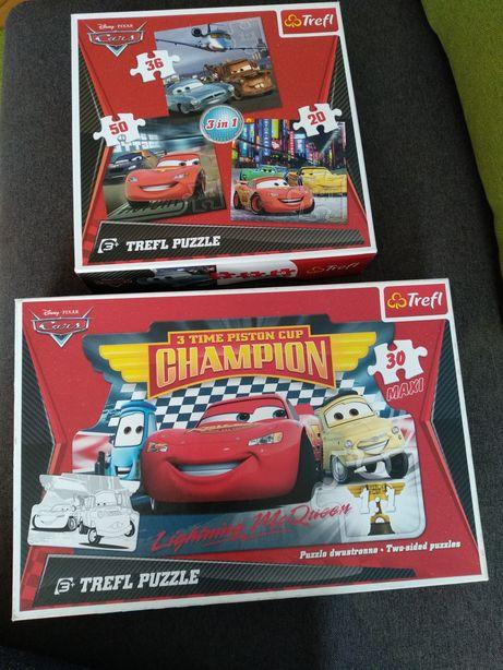 Puzzle maxi Zygzak McQueen zestaw 4 szt