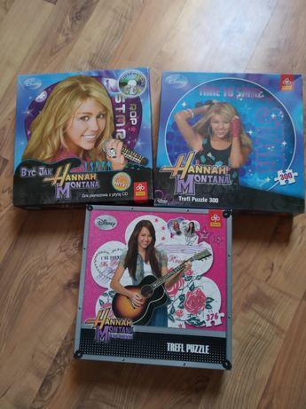 Hannah Montana puzzle i gra
