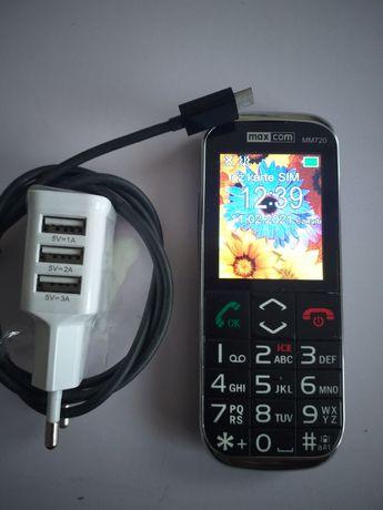 Telefon dla Seniorów. Czytelny wyświetlacz i duże cyfry. MaxCom MM720