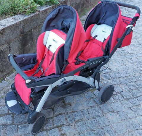 Carrinho de bebe marca Cam (gémeos) com cadeirinhas auto grupo 0