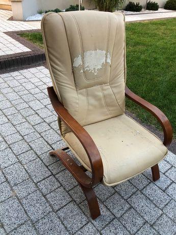 Fotel ze skóry ekologicznej
