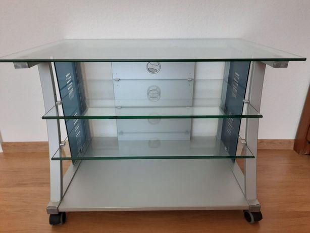 szafka szklana na kółkach pod telewizor