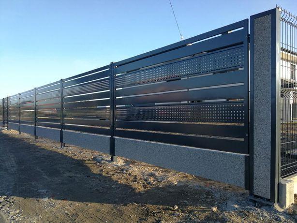 PRODUCENT Panele ogrodzeniowe 3D Słupki panelowe Podmurówka betonowa
