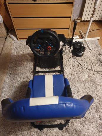 Logitech g29 fotel shifter i reczny z poloneza :)