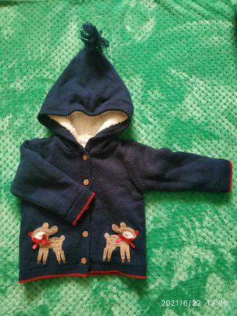 Курточка и кофта новорожденному
