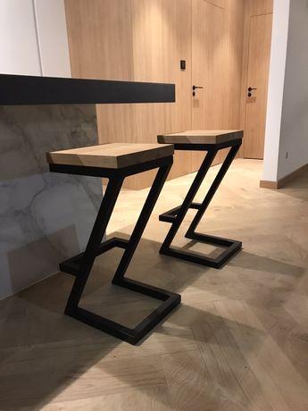 Hoker krzesło stołek industrialny barowy nogi dębowe LOFT na wymiar!!!