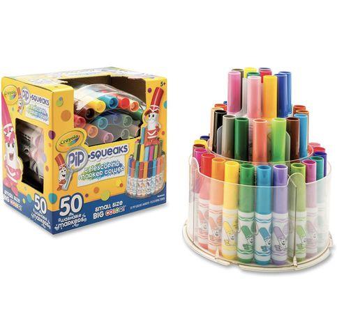 Набор маркеров Crayola Pip Squeaks, 50 моющихся маркеров, подарок для