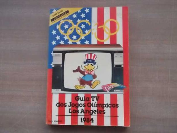 HISTÓRIA e GUIA TV (340 Páginas)dos JOGOS OLÍMPICOS (LOS ANGELES) 1984