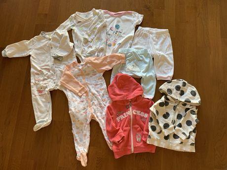 пакет одежды 6-9 мес на девочку H&M, Smil, Bebetto