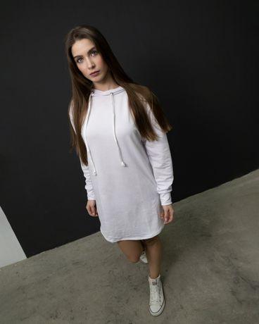 Женское платье худи чёрное и белое DNK MAFIA - Elven